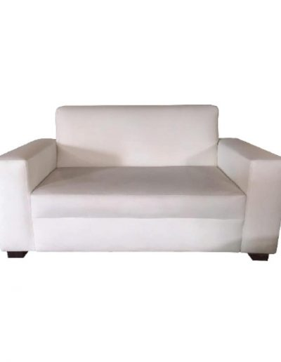 Sofa double seater (white)