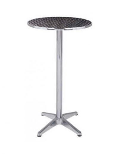 Cocktail round table (chrome)