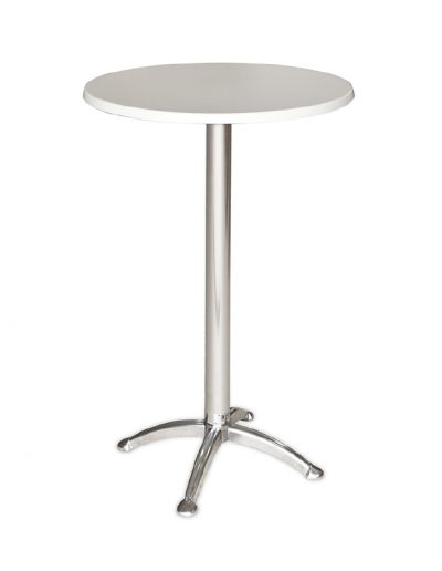 Cocktail round table (white)