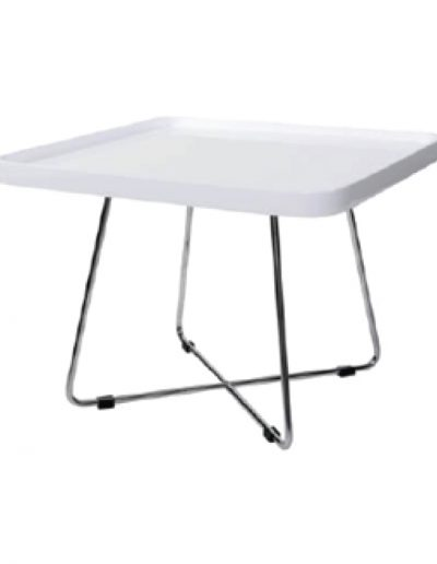 Coffee martini square table (white)