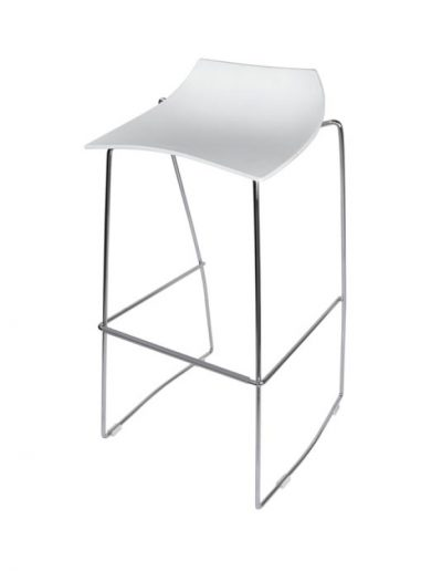 Scoop barstool (white)