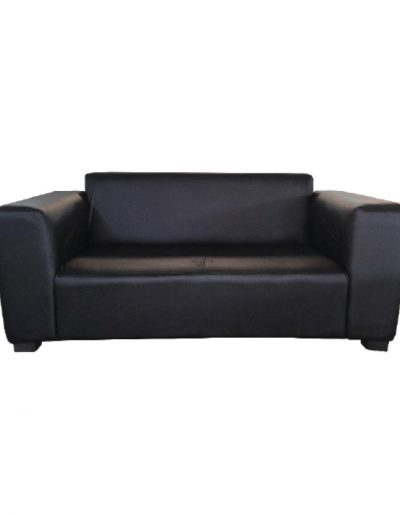 Sofa double seater (black)