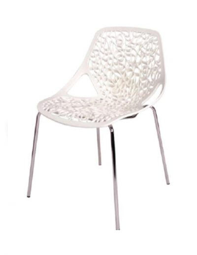 Spring café chair (white)