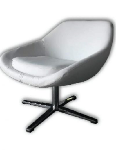 Square swivel chair (white)