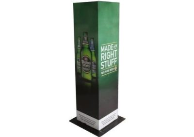 Branded tower plinth
